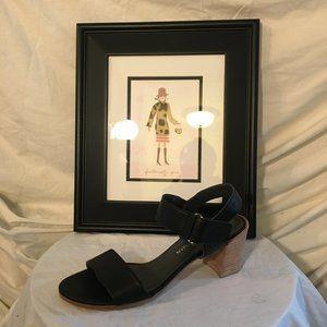 Stuart Weitzman Block Heel Leather Sandal  9